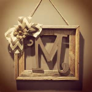 initial home decor barnwood rustic home decor frame with initial rustic home