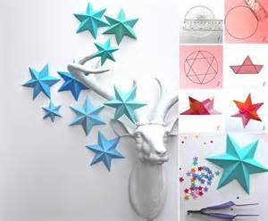 Ornaments For Home Decor creative ideas diy 3d paper star ornaments