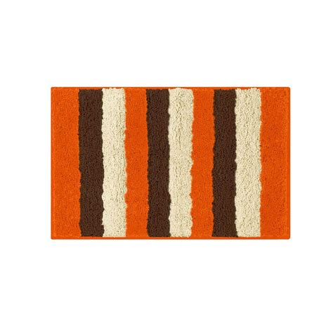 Bathtopia Radella Orange 16 In X 24 In Bath Rug Orange Bathroom Rug