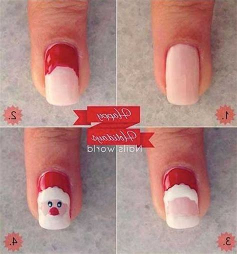 easy christmas nail art without tools easy christmas nail designs tutorials 2017 step by step