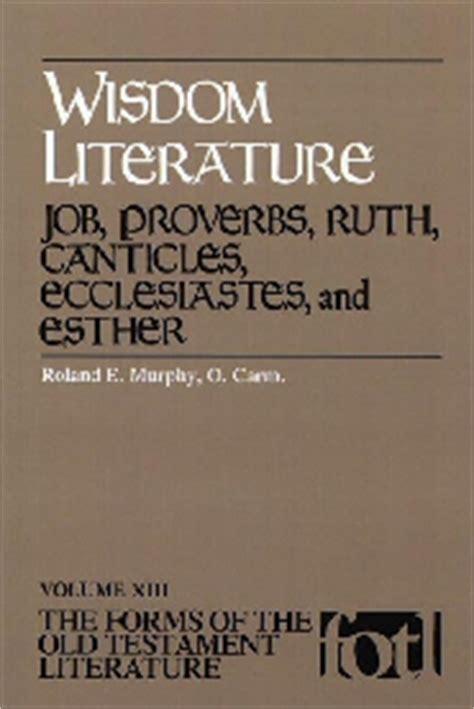 themes of wisdom literature wisdom literature