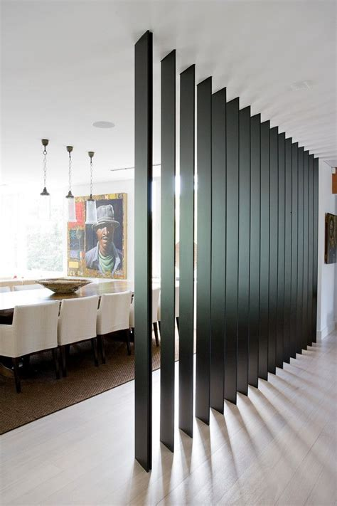wall divider ideas interior partitions room zoning design ideas black wooden wall height blinds sala pinterest
