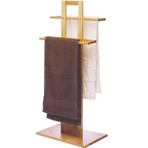 porta asciugamani bagno da terra porta asciugamani da terra in legno di bamboo 37 x 25 x 85
