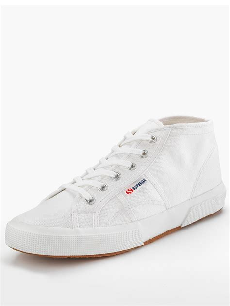 superga superga coto mid cut tennis shoes in white for