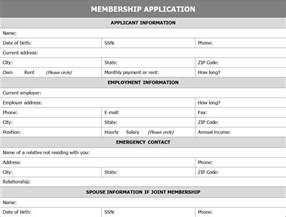 membership templates application template microsoft word free membership
