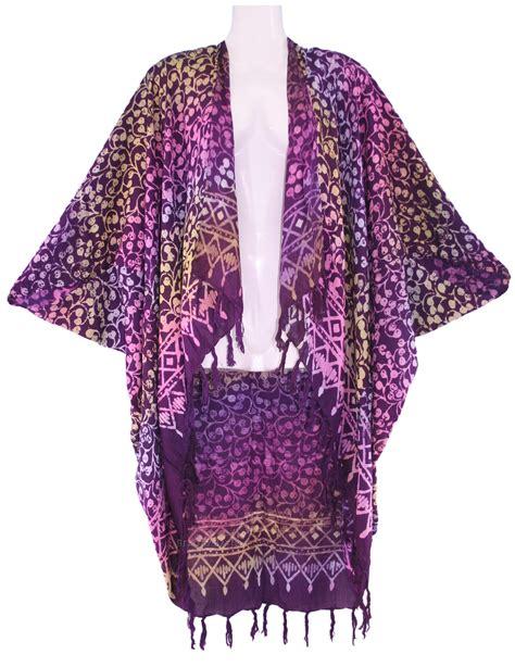 batik shawl pattern purple plum women batik kimono shawl wrap plus size jacket