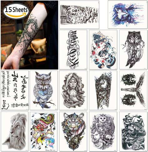 amazon tattoos dalin large temporary tattoos arm