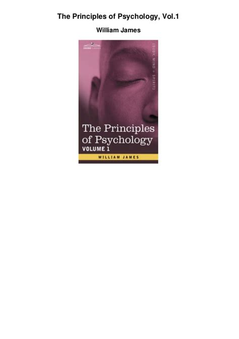 the principles of psychology vol 1 of 2 classic reprint books the principles of psychology vol1