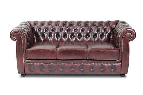 sofa stores liverpool okseblodfarvet 3 personers liverpool sofa i gte lder