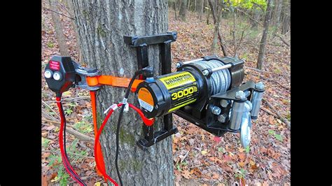 electric tree winch portable deer winch welding - Boat Winch Tree