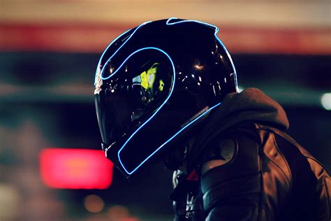 motocross helmet light lightmode electroluminescent motorcycle helmets