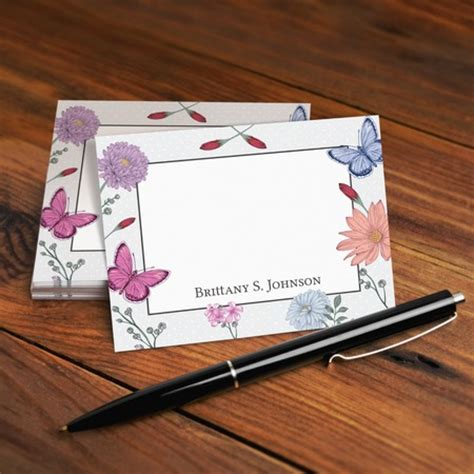 personalized note card template custom note cards uprinting