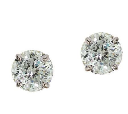 diamonique 1 50 ct tw 100 facet stud earrings 1 4k gold