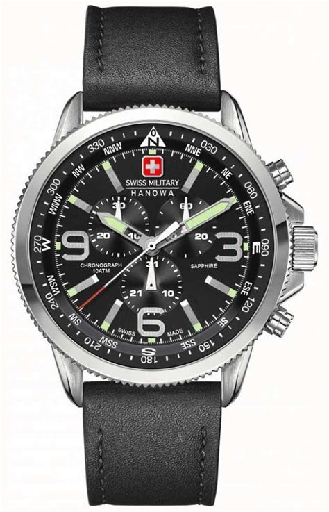 Swiss Navy 8301 Mssbk Black Stainless Steel swiss hanowa mens stainless steel black black leather chronograph 6 4224 04 007