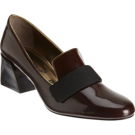 loafer pumps lanvin banded loafer pumps in brown gold lyst