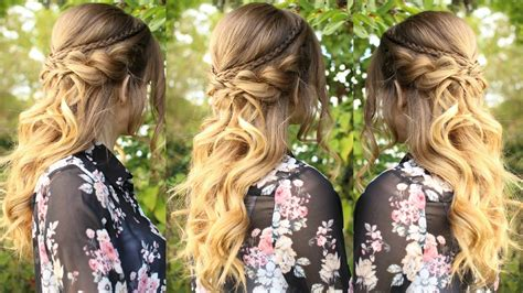 Hairstyles With Curls by Half Up Half Hairstyle With Curls