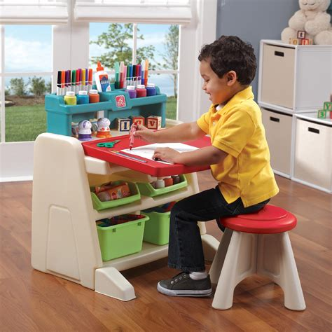 step2 flip and doodle easel desk with stool assembly step 2 flip doodle easel desk with stool toys