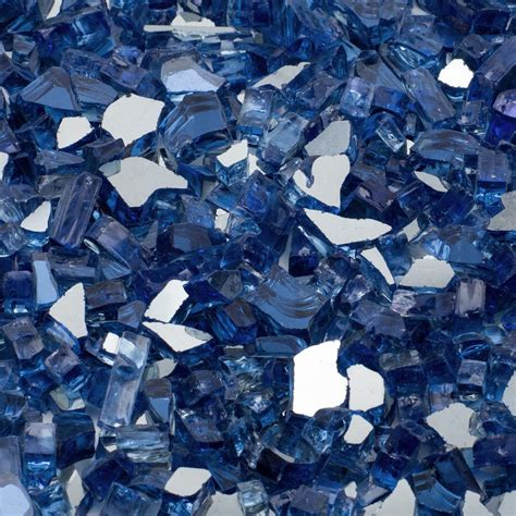 Margo Garden Products 1 4 In 500 Lb Cobalt Blue Glass Rocks For Pit
