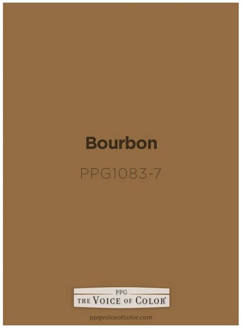bourbon color bourbon paint color by ppg voice of color is inspired by a