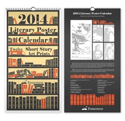 The Lit Calendar by Black Friday Giveaway Postertext Calendar Prints Book