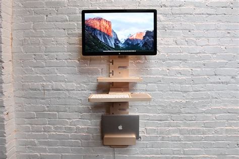 wall mounted standing desk standcrafted wall mounted standing desk bonjourlife