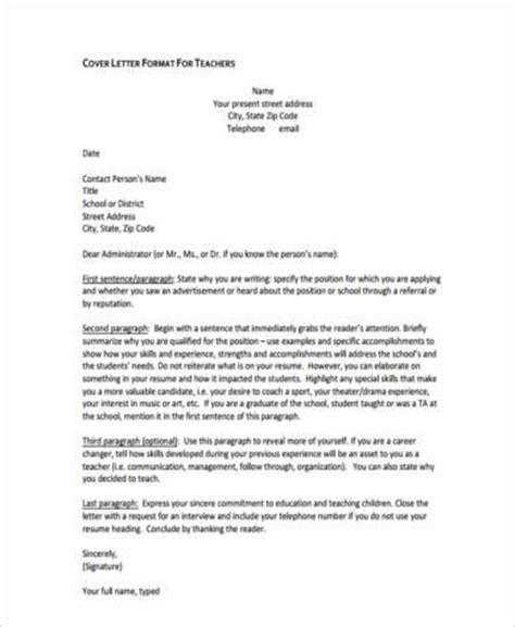 cover letter examples  teachers   word