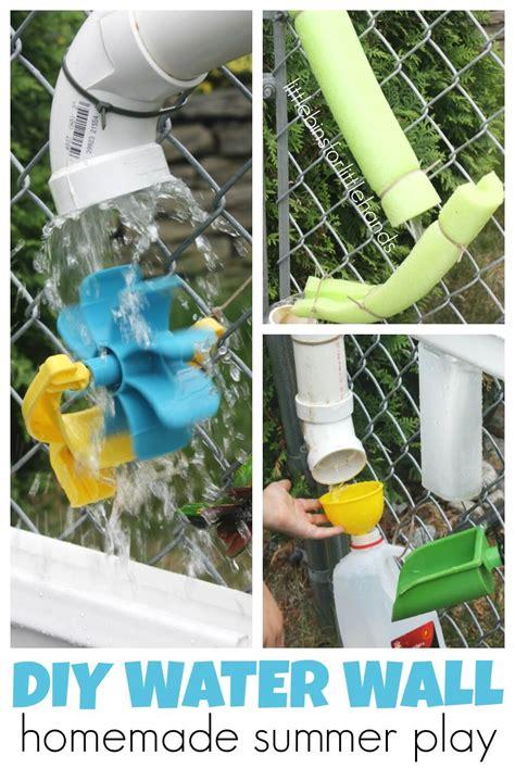 Cheap Backyard Deck Ideas Homemade Water Wall Summer Water Play For Kids