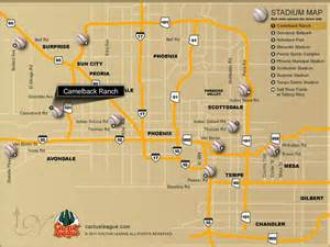 map of ballparks in arizona white sox 2012 stadium cactus league map