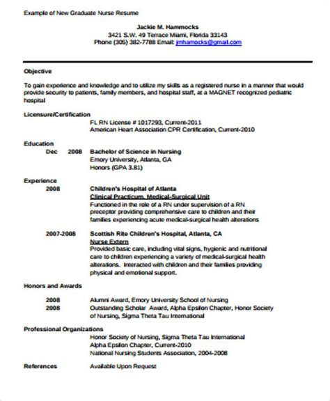 New Grad Rn Resume by 4 Sle Graduate Resumes Sle Templates