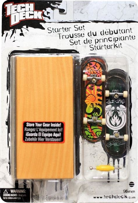 tech deck brands tech deck skateboard starter set black label tech