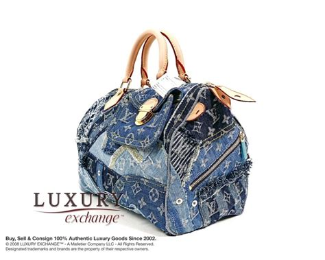 Blus Eksklusif Louis Top Limited Stock authentic louis vuitton blue denim patchwork speedy 30 bag