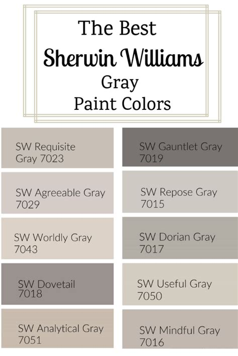 sherwin williams gray paint colors west