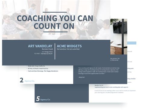 free coaching templates executive coaching template free sle proposify