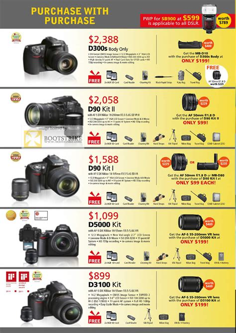 nikon digital price list nikon digital cameras dslr d300s d90 kit d90 kit ii