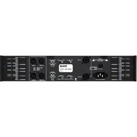 Power Lifier Quest Quest Qa4004 1700 Watt Per Channel Stereo Power Quest Radio Parts Electronics Components
