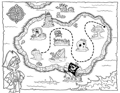 Treasure Map Coloring Pages Getcoloringpages Com Treasure Map For Coloring