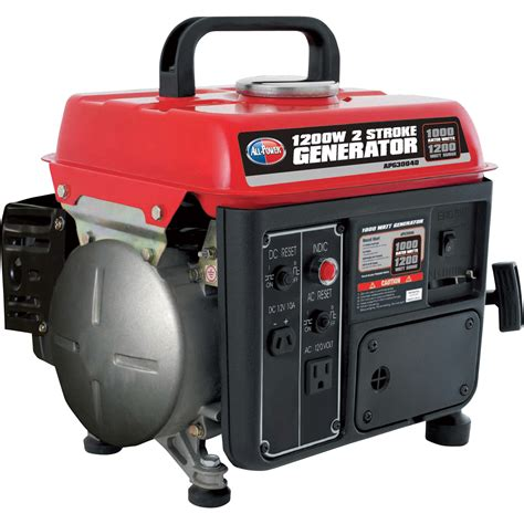 Or Generator All Power America 2 Stroke Portable Generator 1200 Surge Watts 1000 Watts Model Apg