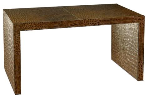 Desk Console Table by Italian Leather Writing Desk Console Table