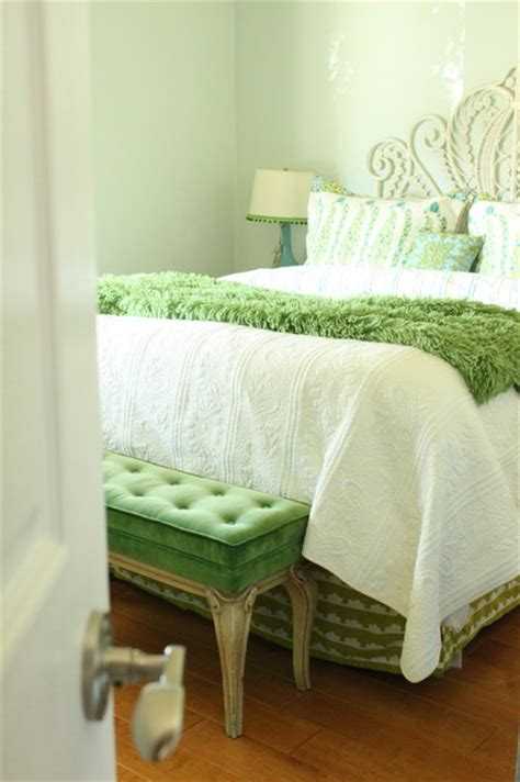 turquoise and green bedroom eclectic bedroom san
