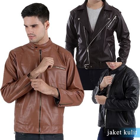 Jacket Keren Masa Kini jaket kulit keren sesuai dengan model yang sedang trend masa kini elevenia