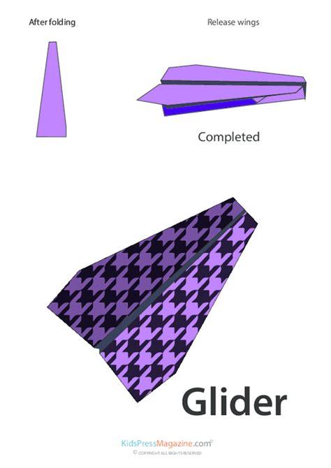 Origami Glider Plane - paper airplane glider kidspressmagazine