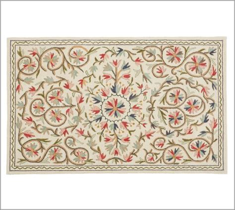 pottery barn floral rug makayla floral rug pottery barn