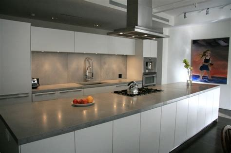 Contemporary Kitchen Countertops Concrete Kitchen Countertops Modern Kitchen