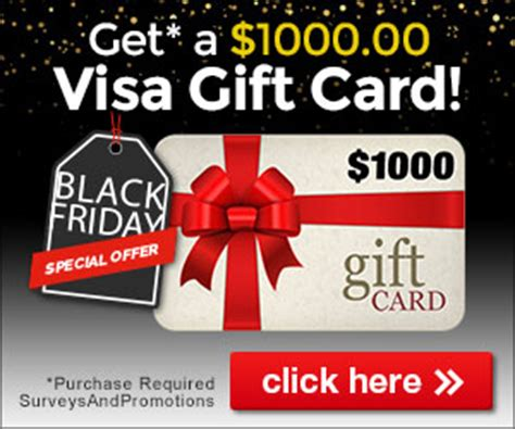 Cyber Monday Visa Gift Card Deals - black friday enter to win a 1000 visa gift card