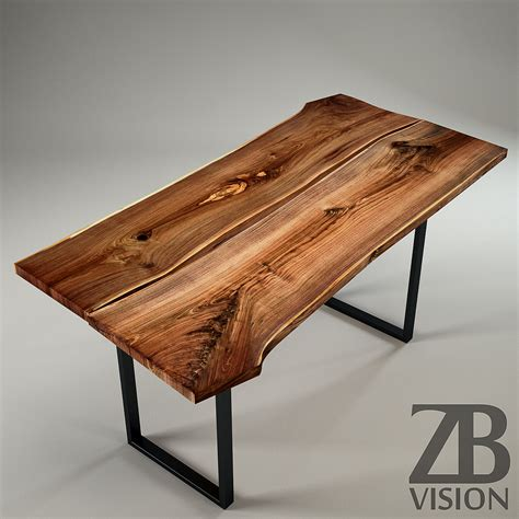 Wood Slab Table by IGN Design Switzerland by Luckyfox   3DOcean