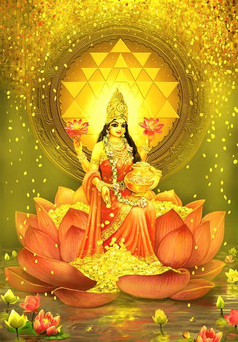 Home Decor App golden lakshmi mixed media by lila shravani