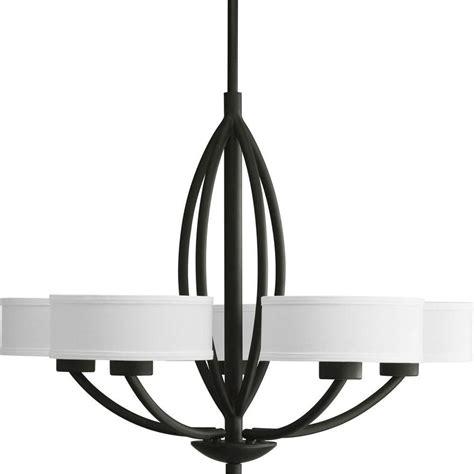 5 light chandelier progress lighting calven collection forged black 5 light
