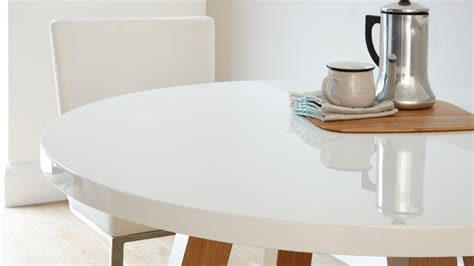 White Gloss Dining Table Set White Gloss And Oak 4 Seater Dining Set Dining Table