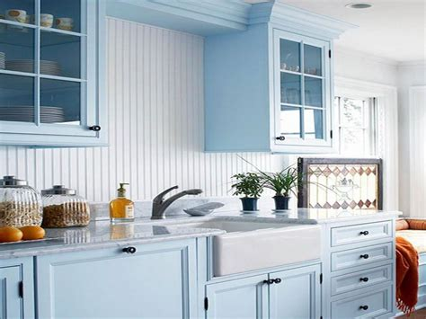 Painting Kitchen Cabinets Blue Blue Painted Kitchen Cabinet Stroovi