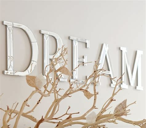 mirrored letters wall decor mirrored wall letters pottery barn